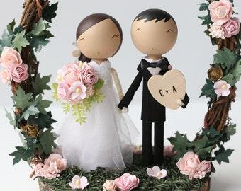 THE TWIGGY ARCH - custom wedding cake topper -