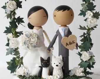 THE STANDARD ARCH - custom wedding cake topper -
