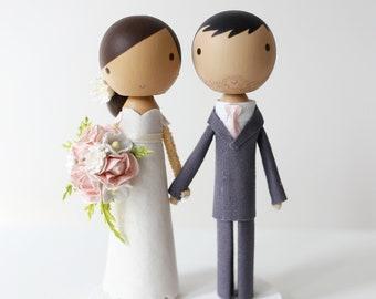 THE SIMPLE - custom wedding cake topper -