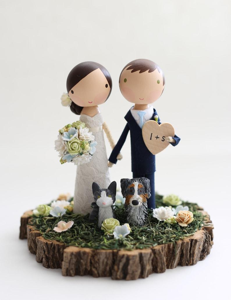 Cake Topper Holzfiguren