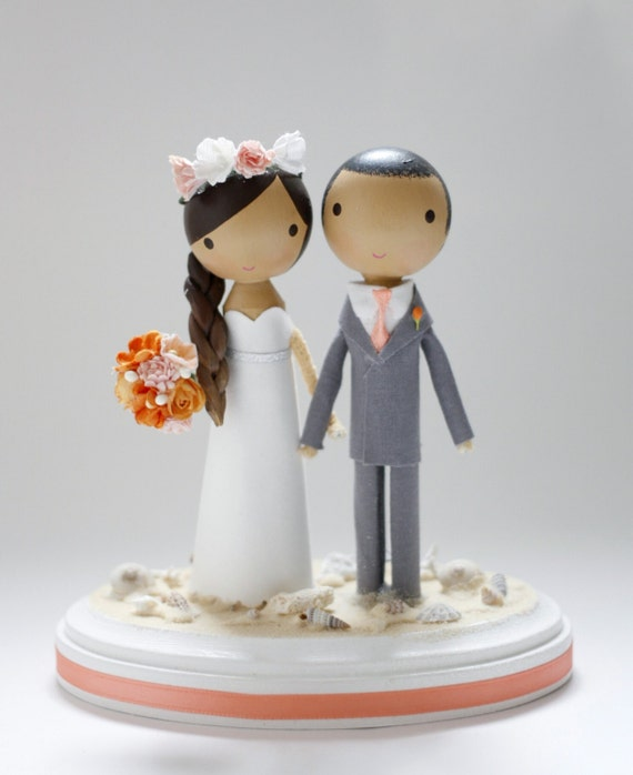unique beach wedding cakes custom wedding cake topper base etsy 21423