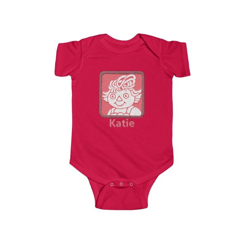 Personalized Onesie\u00ae Custom Onesie\u00ae Custom Baby Onesie\u00ae Raggedy Ann Vintage Block Baby Shirt Baby Clothes Personalized Baby Bodysuit