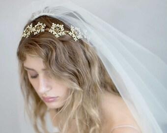 Bandeau de mariée - strass incrusté de bandeau regal - Style 741 - réalisé sur commande