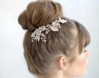 Épingles à cheveux mariée - miroitement et brillance épingles à cheveux de feuille, lot de 3 - Style 765 - réalisé sur commande