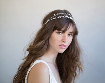 Bridal hair vine - Extra long simple crystal hair vine - Style 735 - Ready to Ship