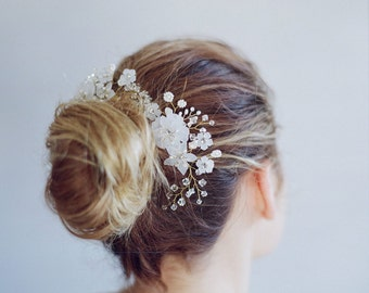 Bridal hair comb - Mystic lunar comb - Style 692-1 - Ready to Ship
