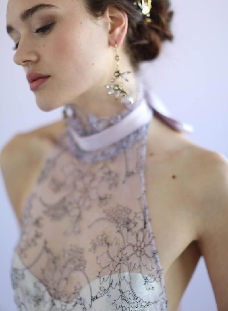 6b86f7b6d Bridal earrings Rosette and crystal earrings Style 630 | Etsy