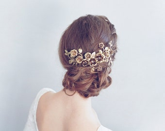 Bridal headpiece - Rose gardens headpiece - Style 775 - Made to Order
