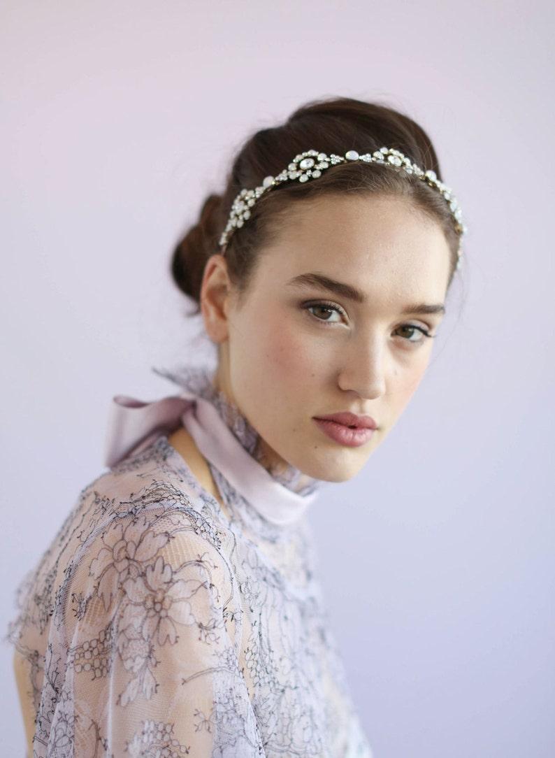 50ed70381a0 Bridal headband Opal crystal circle headband Style 625 | Etsy
