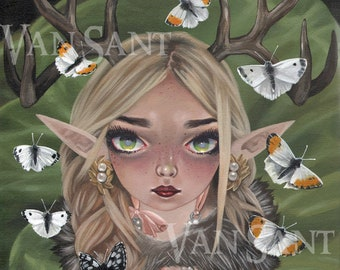Fauna giclee pop surrealism print by Susan Van Sant