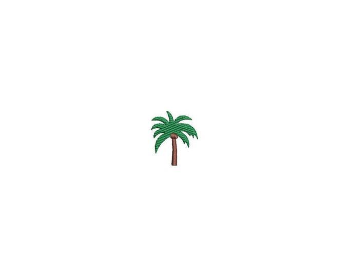 Palm Tree Mini Machine Embroidery File design - 4 x 4 inch hoop - Palm Silhouette