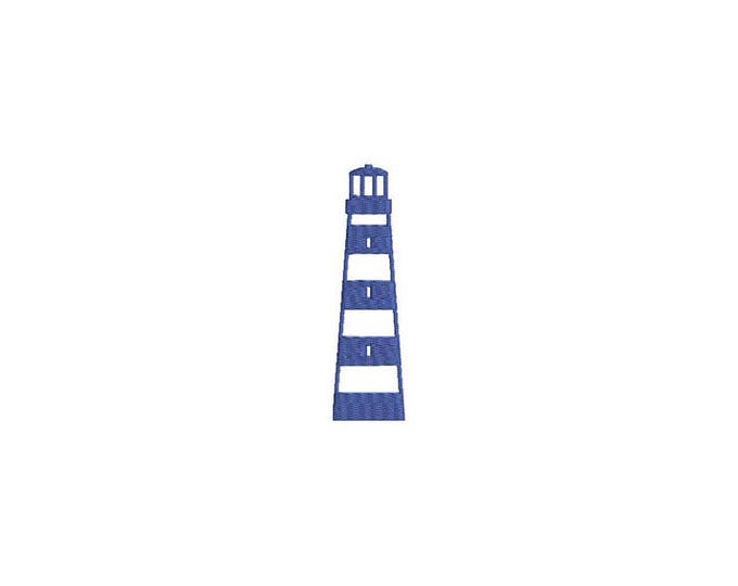 Lighthouse Nautical Machine Embroidery File design 4x4 inch hoop - instant download