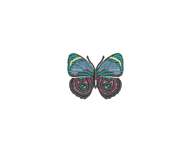 Butterfly 2 Machine Embroidery File design 4x4 inch hoop - Mini 6cm