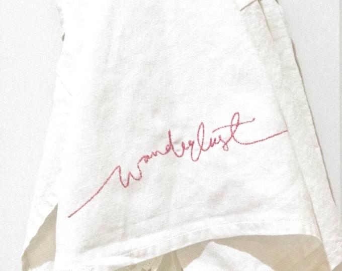 Floss Stitch Wanderlust Machine Embroidery File design 5x7 inch hoop