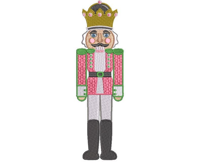 Nutcracker Christmas Embroidery - Xmas Machine Embroidery File design - 5x7 hoop  - instant download