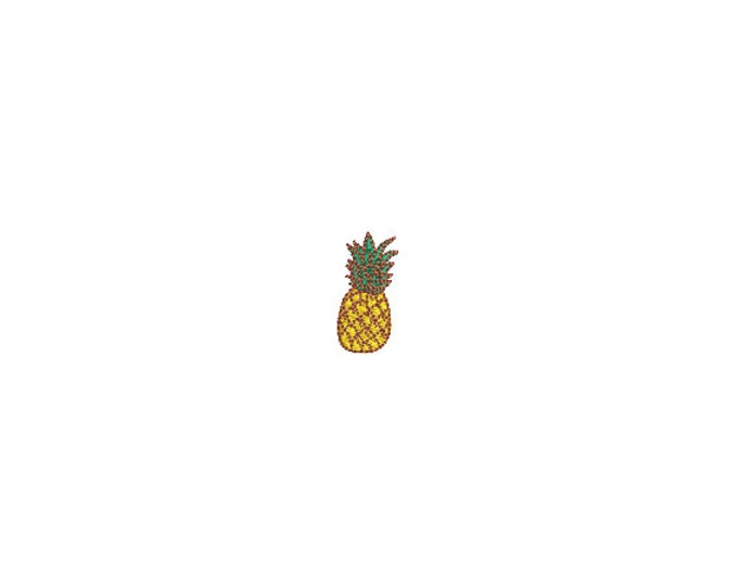 Mini Pineapple Embroidery File design - 4 x 4 inch hoop  - instant download - 3cm - Pineapple Design