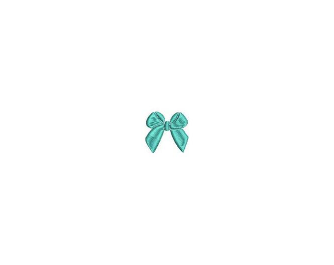 Mini Bow Machine Embroidery File design - 4 x 4 inch hoop - Mini bow 6