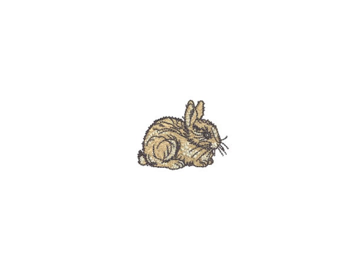 Mini Bunny Machine Embroidery design- 5cm tall - 4x4 inch hoop - Rabbit Embroidery - Easter Design