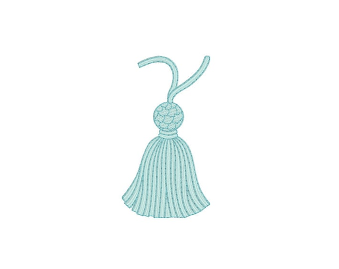 Vintage Tassel Machine Embroidery File design 4x4 inch hoop Instant Download