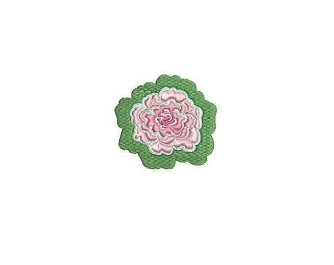 Cabbage Rose Machine Embroidery File design 6cm - 4 x 4 inch hoop - Rosette - Rose Silhouette