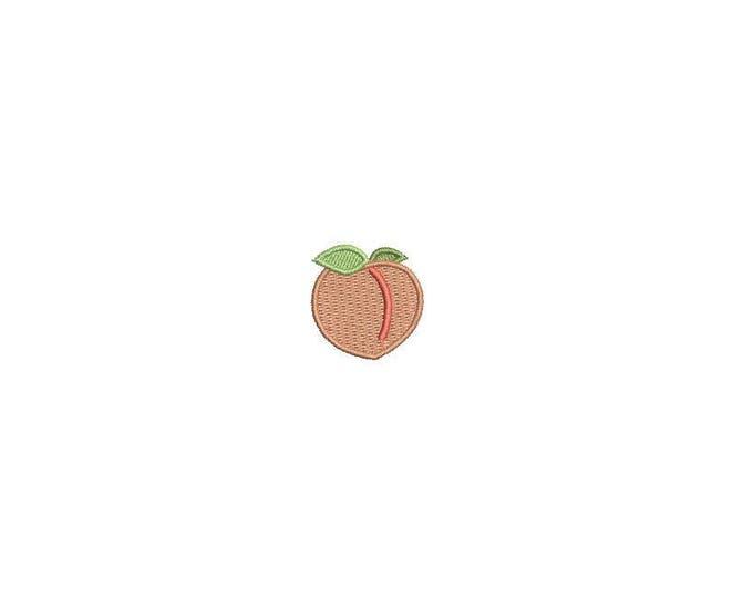Machine Embroidery Peach Mini 1 inch - 2.5cm Embroidery File design - 4x4 hoop