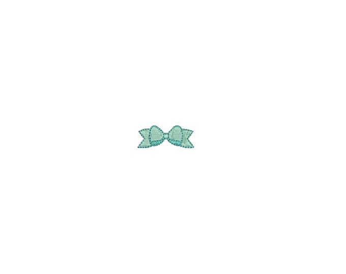 Mini Ribbon Bow Embroidery File design - 4 x 4 inch hoop  - instant download - 3cm