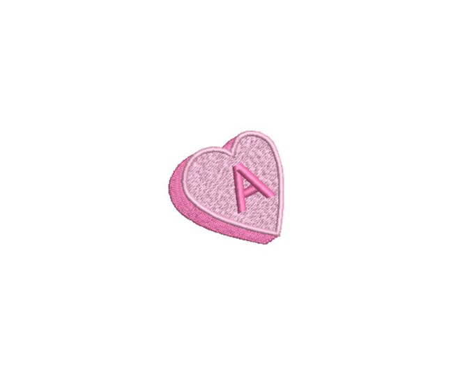 Mini Candy Heart  - Machine Embroidery File design  - 4 x 4 inch hoop - instant download