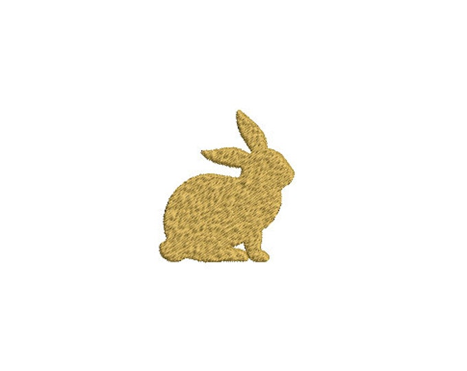 Mini Bunny Machine Embroidery File design- 5cm tall - 4x4 inch hoop - Rabbit Embroidery - Easter Design