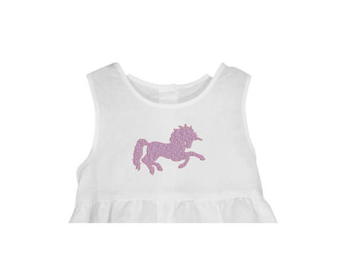 Unicorn Silhouette Embroidery Design -  Machine Embroidery File design - 4 x 4 inch hoop - instant download