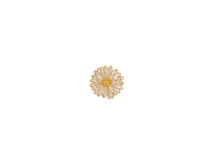 Mini Daisy Machine Embroidery File design - 4 x 4 inch hoop  - instant download - 3cm