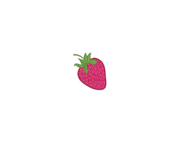 Strawberry Embroidery - Kawaii Strawberry Machine Embroidery File design 4 x 4 inch hoop Makes a great Patch - Instant download