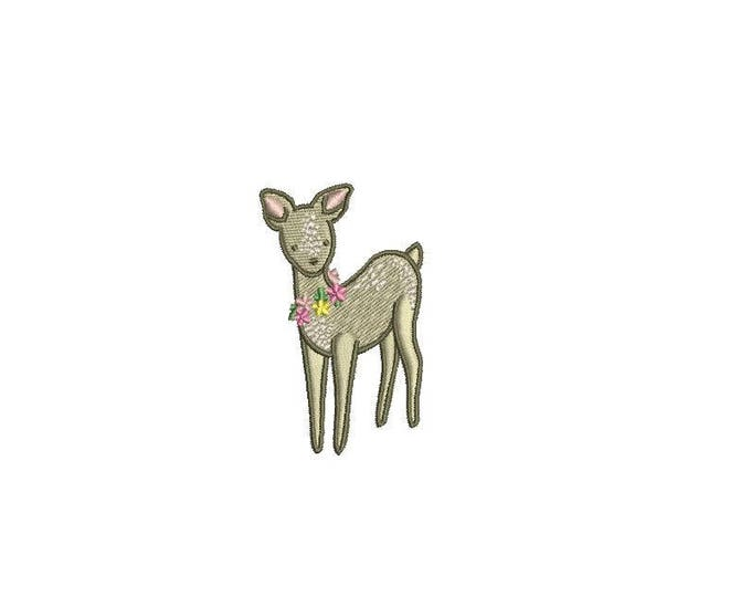 Mini Deer Machine Embroidery File design 4x4 inch hoop - 6cm tall