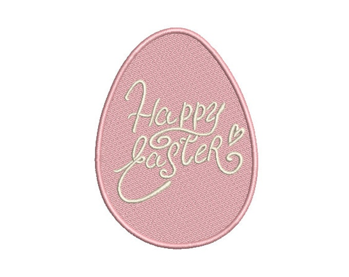Easter Egg Design - Happy Easter Machine Embroidery File design - 4x4 inch hoop - Easter Embroidery