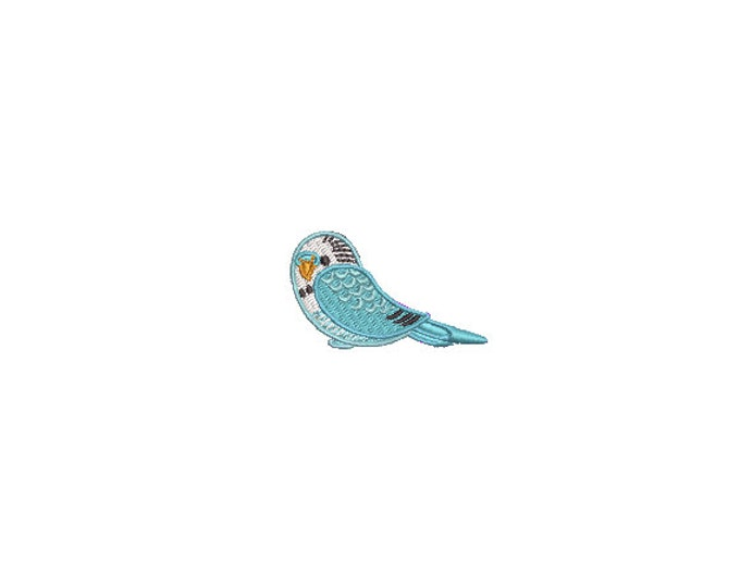 Mini Budgie Budgerigar - 5cm - 4 x 4 inch hoop - Bird embroidery file - Mini Machine Embroidery Design digital download