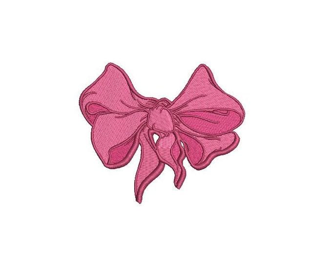 Big Bow Machine Embroidery File design - 4 x 4 inch hoop - Monogram Design - Bow embroidery Design