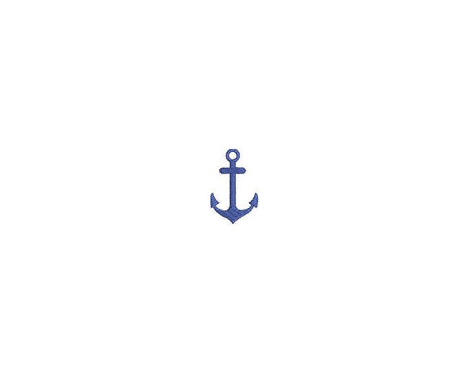 Anchor Mini Machine Embroidery File design - 4 x 4 inch hoop - Anchor Silhouette