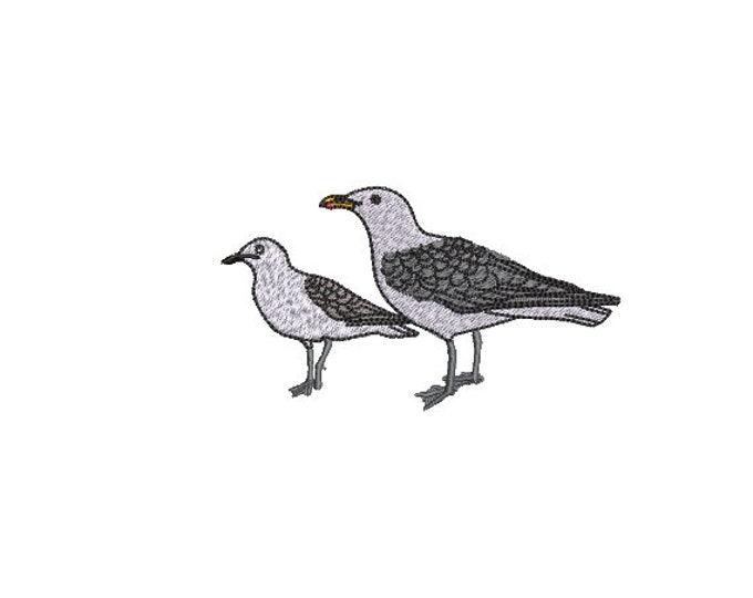 Machine Embroidery Seagulls - Machine Embroidery File design - 4x4 inch hoop