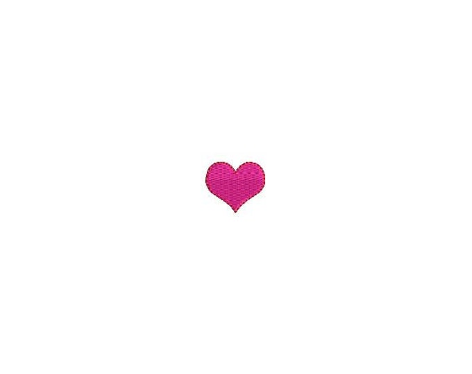 Tiny Heart Embroidery  1 inch or 2.5 cm Machine Embroidery File design 4 x 4 inch hoop - instant download