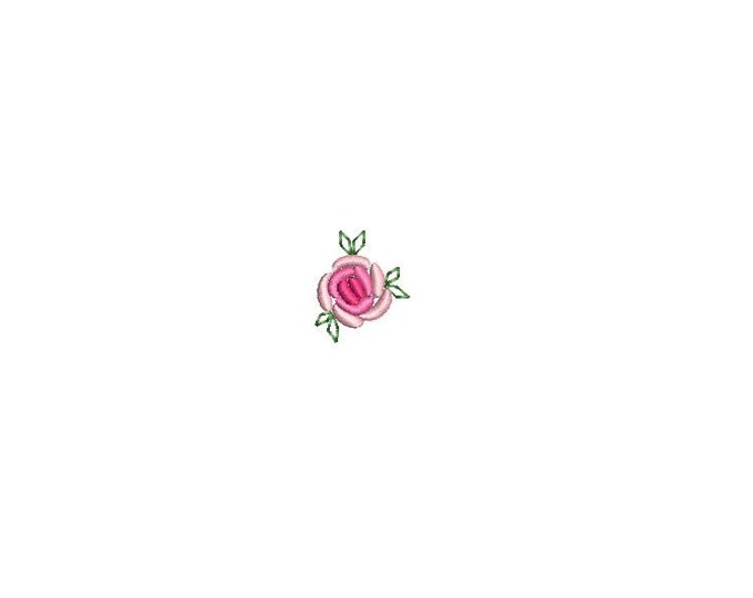 Vintage Bullion Grub Rose - Mini 2cm - Machine Embroidery File design  - 4 x 4 inch hoop - Instant Download