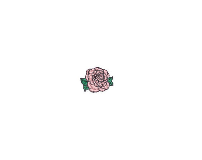 Mini Tattoo Rose Embroidery File design - 4 x 4 inch hoop  - instant download - 3cm - Rose Design
