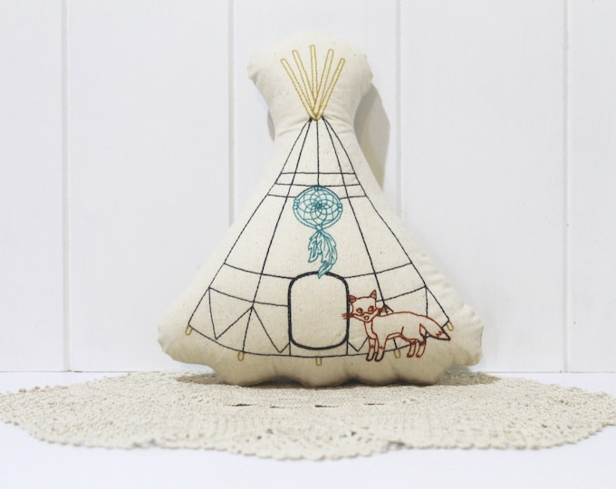 ITH In The Hoop Boho TeePee Mini Cushion Toy Machine Embroidery File design Easter