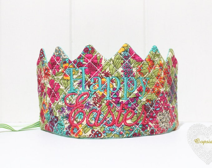 ITH In The Hoop Quilted Easter Crown Tiara Crown Machine Embroidery File design 6x10 hoop