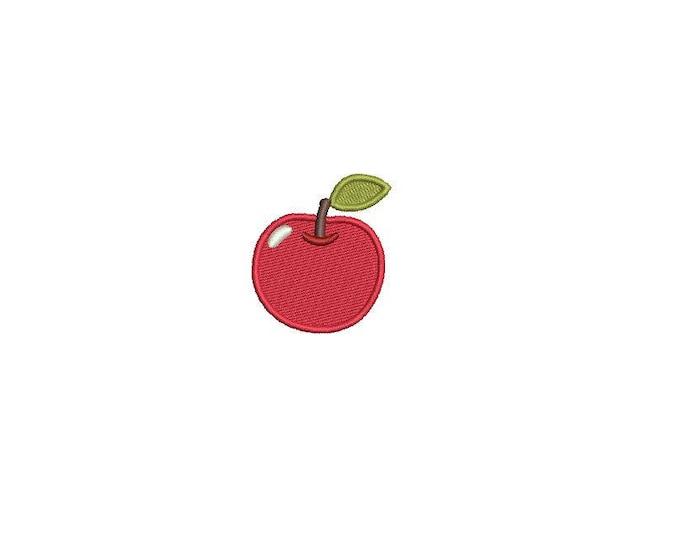 Machine Embroidery Apple Mini 4cm Embroidery File design 4x4 hoop