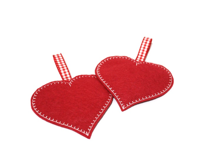 ITH Heart Ornaments Machine Embroidery File design- in the hoop project