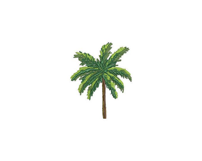 Palm Tree Machine Embroidery File design - 4 x 4 inch hoop - Palm Sketch