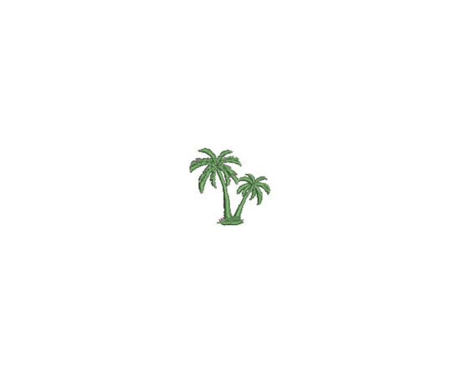 Mini Palm Trees Embroidery File design - 4 x 4 inch hoop  - instant download - 3cm