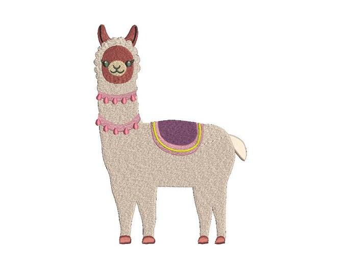Llama Alpaca 2 Machine Embroidery File design 5x7 inch hoop - instant download