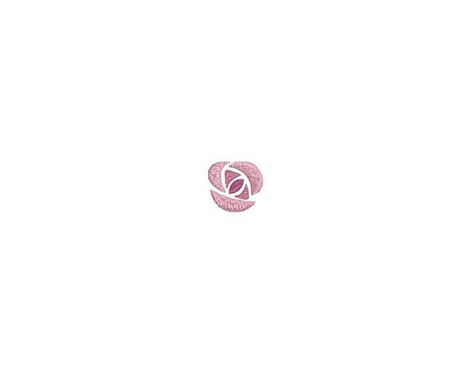 1 inch Rose Machine Embroidery File design - 4 x 4 inch hoop - Rosette - dad cap design - mini rose design