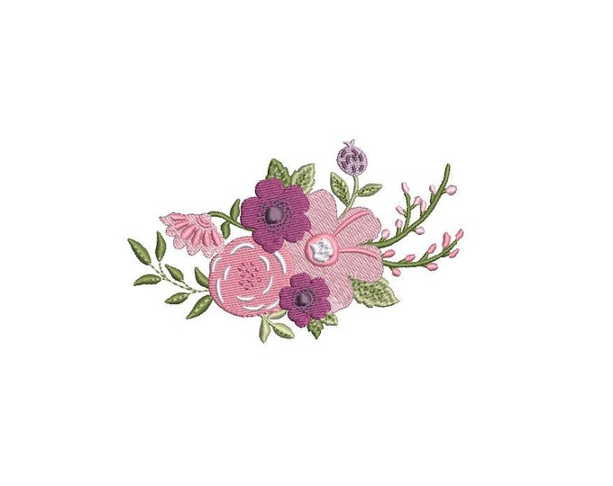 Lilac Flowers Machine Embroidery File design - 4x4 inch hoop - Embroidery design - instant download