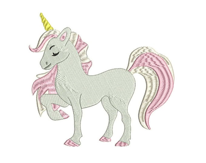 Unicorn Embroidery Design - embroidery File design 7x12 inch or 18x30cm hoop unicorn embroidery in the hoop ITH Instant download